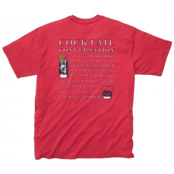 Cocktail Conversation Tee - Red